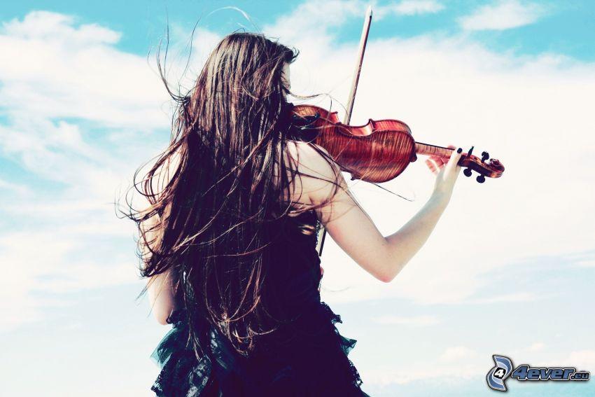 skrzypaczka, gra na skrzypcach