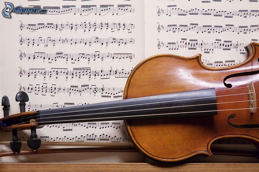 skrzypce, nuty
