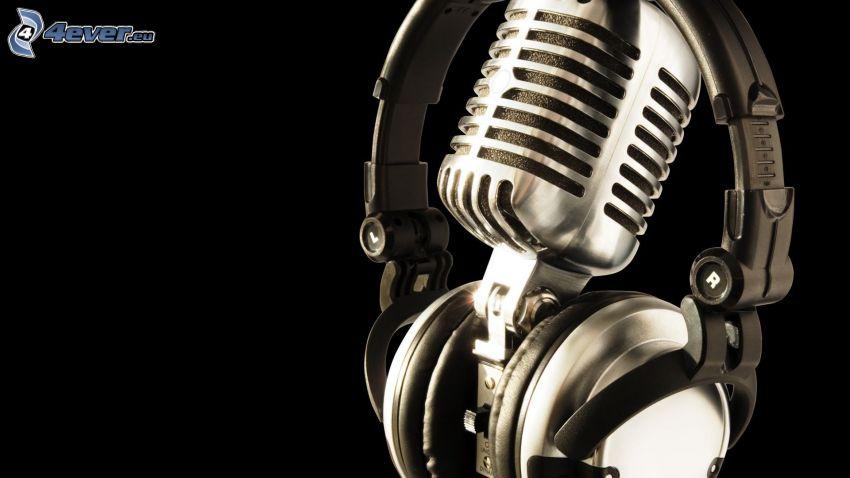słuchawki, mikrofon