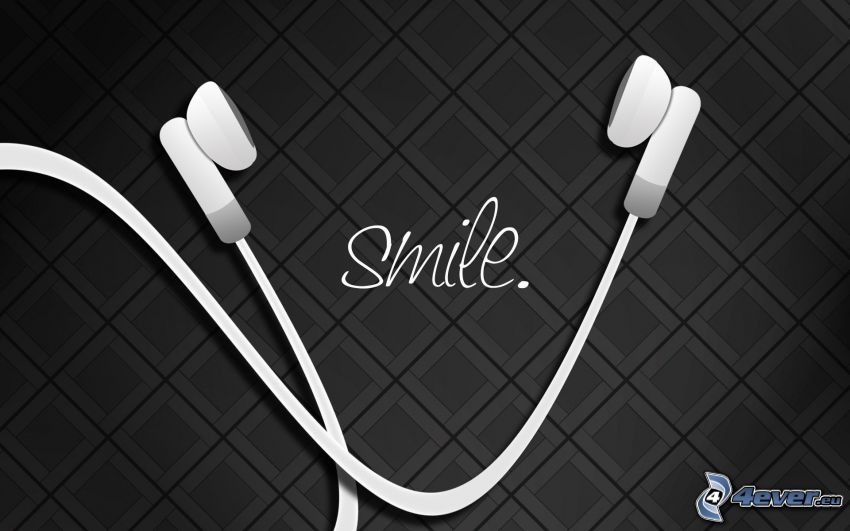 słuchawki, smile