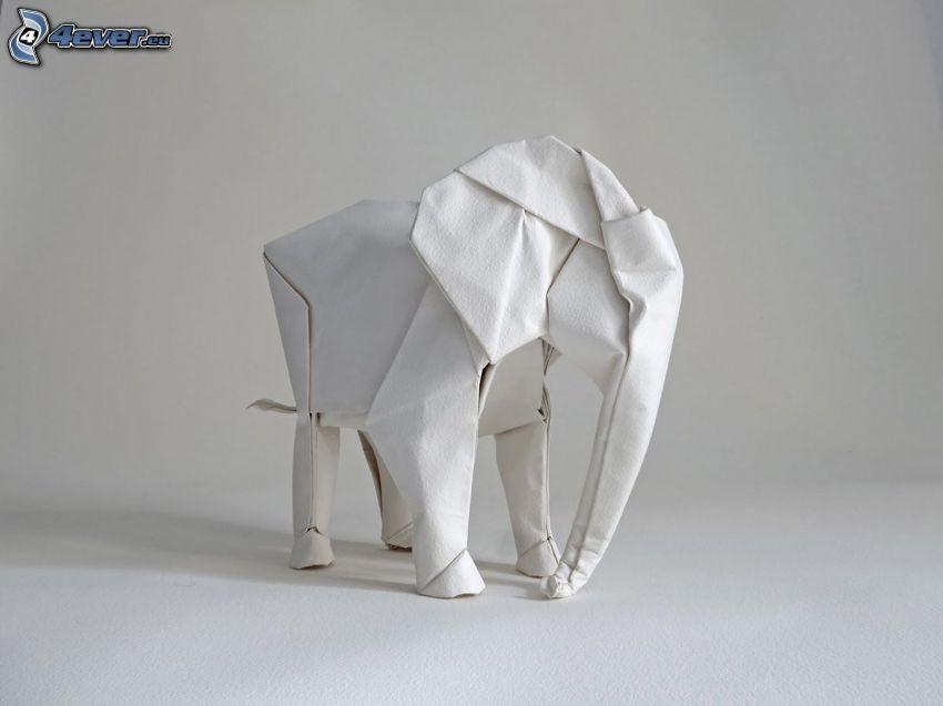 origami, słoń