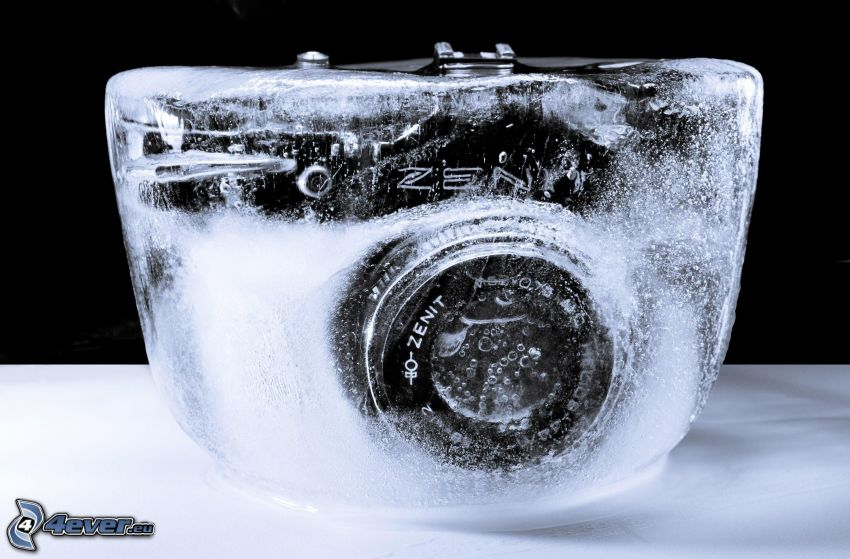 aparat fotograficzny, lód
