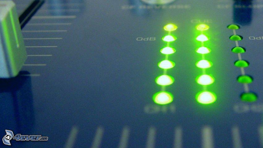 DJ Mixer, światełka