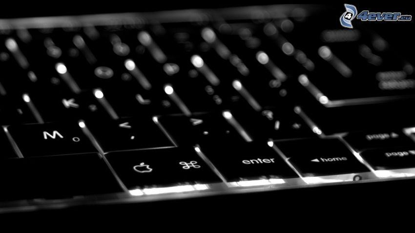 klawiatura, Apple, podświetlenie