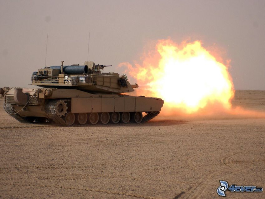M1 Abrams, strzelanie, czołg