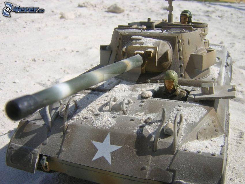 M18 Hellcat, czołg, żołnierz, piasek
