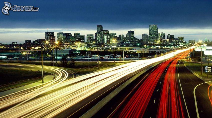 autostrada, miasto