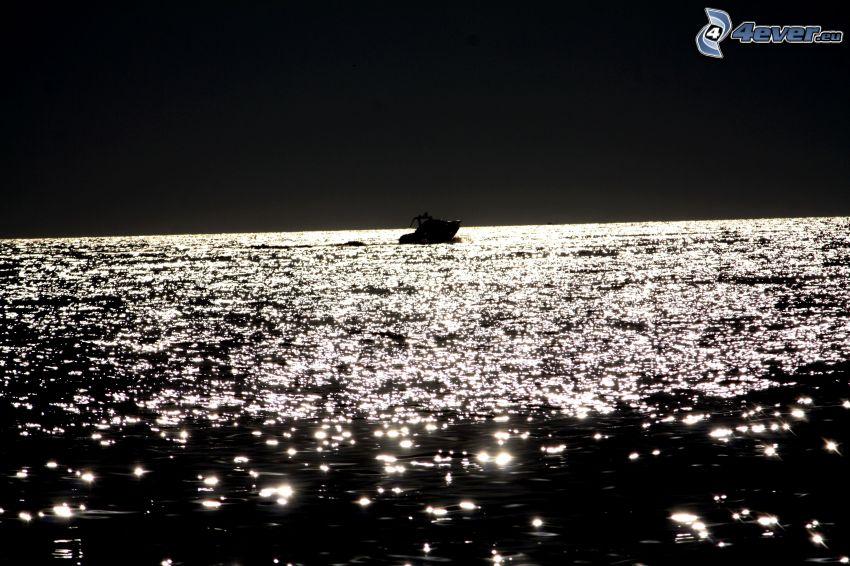 łódka, morze