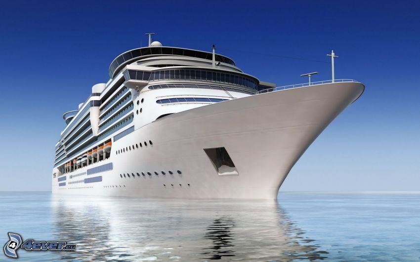 luksusowy statek, morze otwarte
