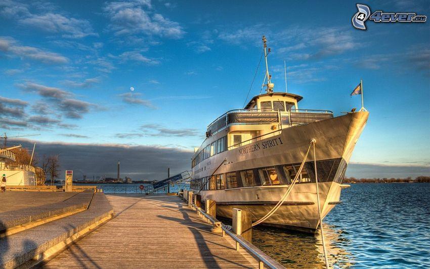 Northern Spirit, łódź, turystyczna, HDR