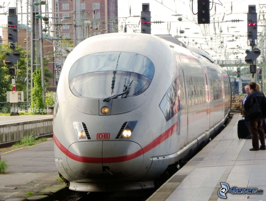 ICE 3, stacja kolejowa, szybka kolej
