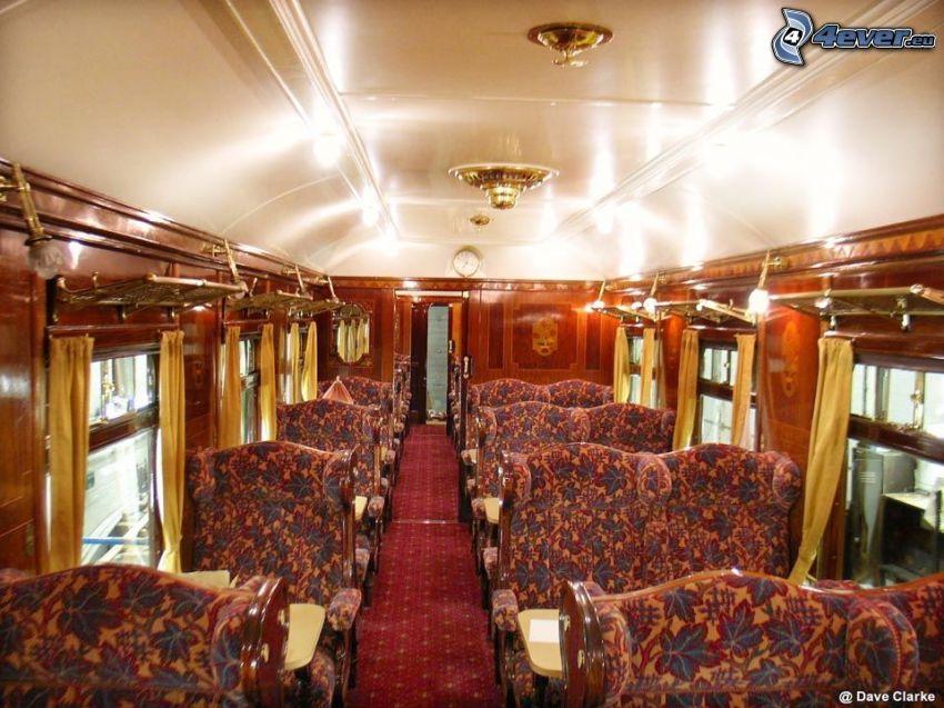Orient Express, luksus, wnętrze
