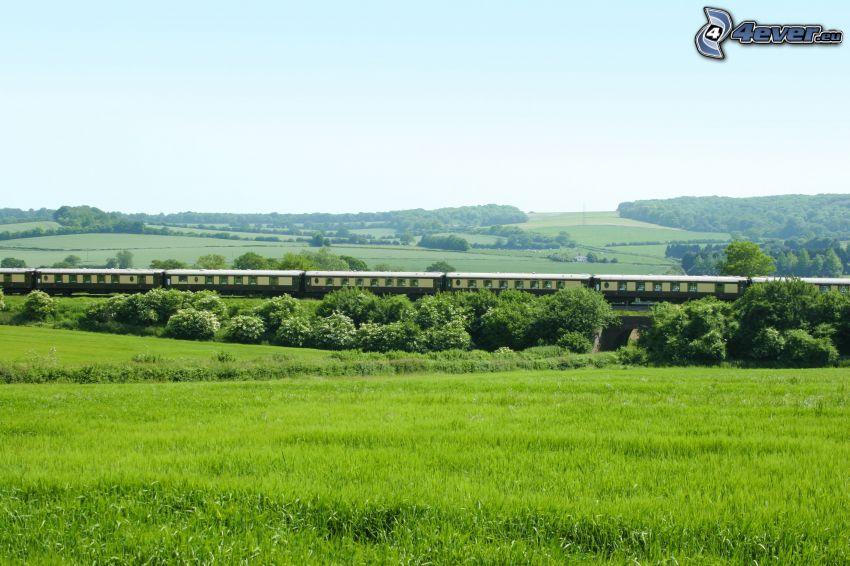 Orient Express, Pullman, Anglia, krajobraz