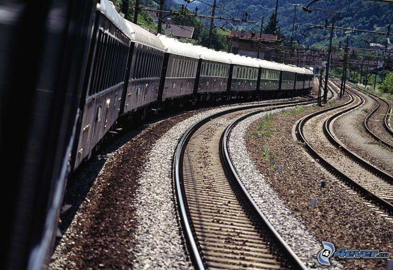 Orient Express, Pullman, pociąg, tory kolejowe