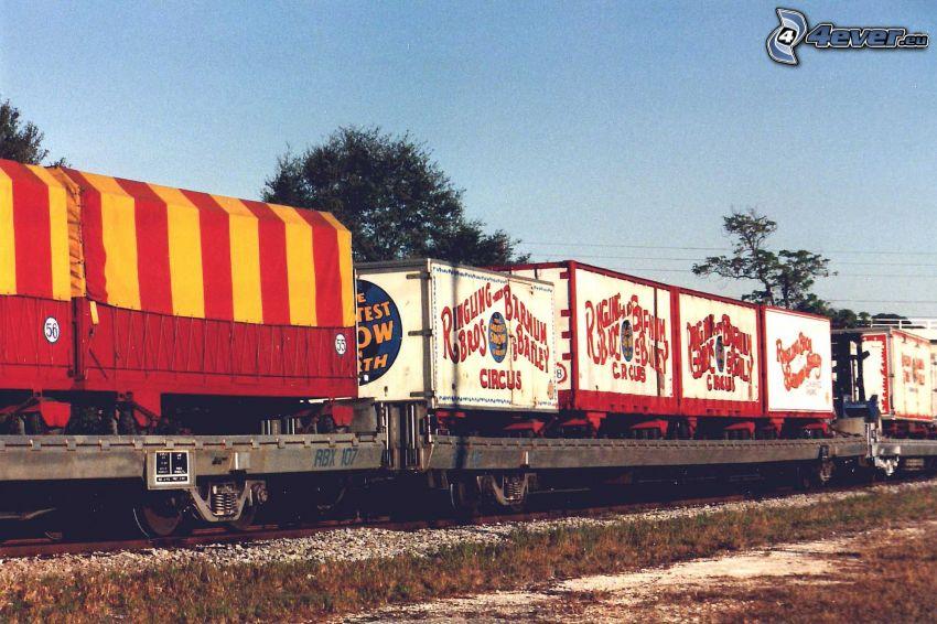 pociąg, cyrk