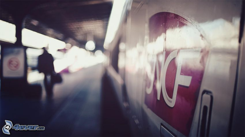pociąg, stacja kolejowa