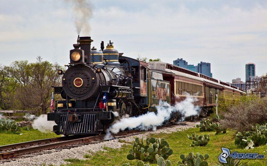 pociąg parowy, parowóz