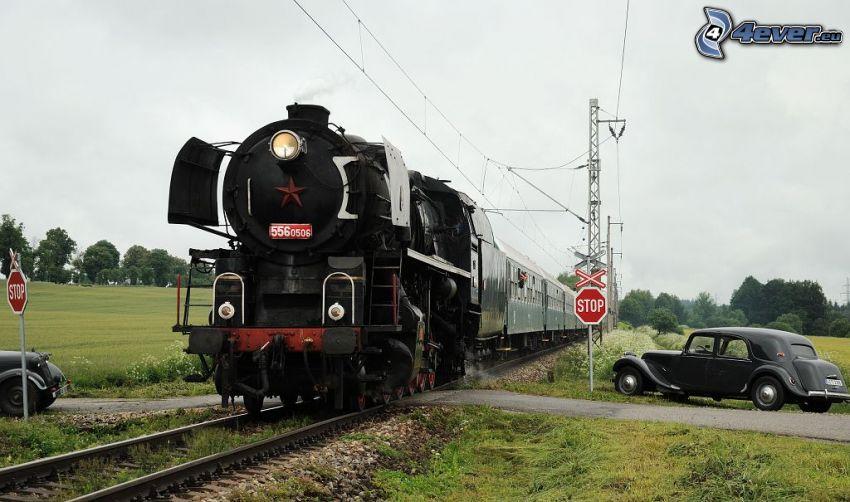 pociąg parowy, weterany