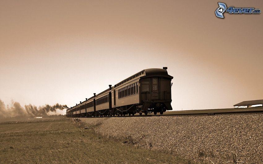pociąg parowy