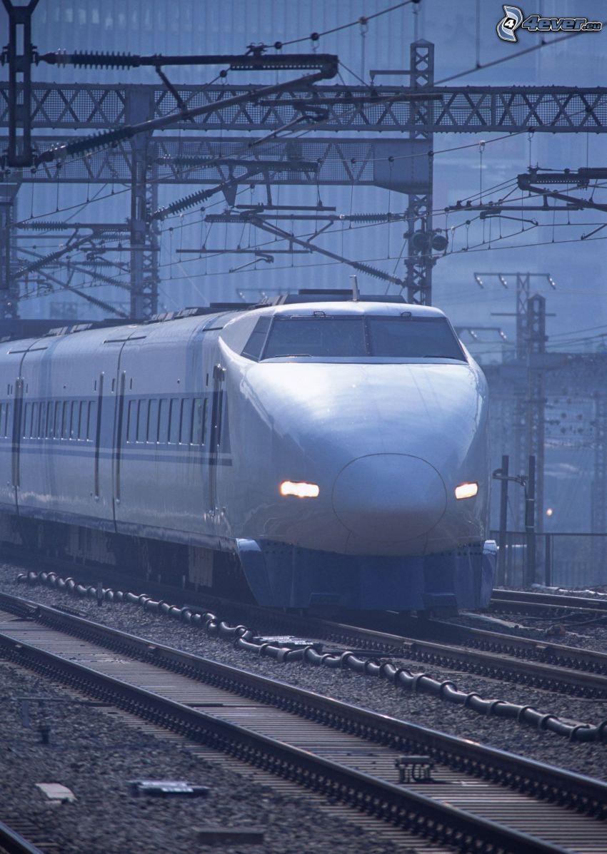 Shinkansen, szybka kolej, kolej żelazna, tory kolejowe, Japonia