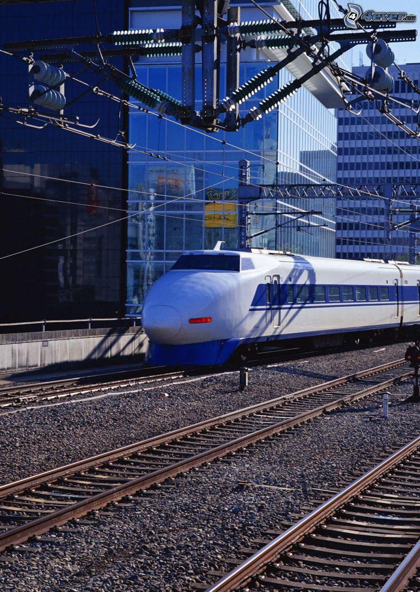 Shinkansen, szybka kolej, tory kolejowe, kolej żelazna