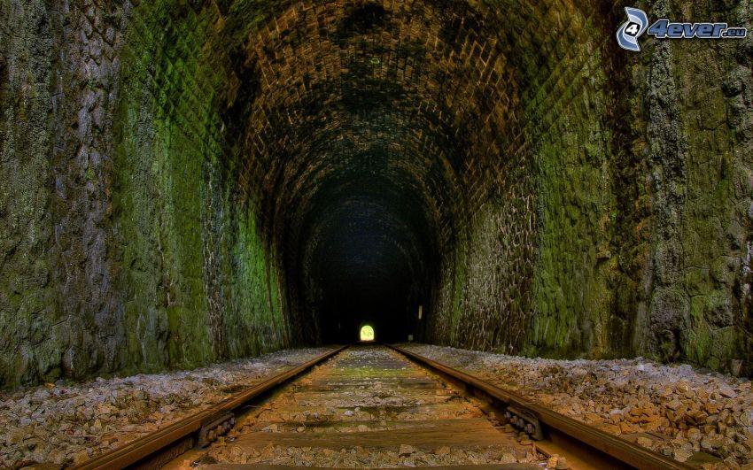 tunel kolejowy, HDR