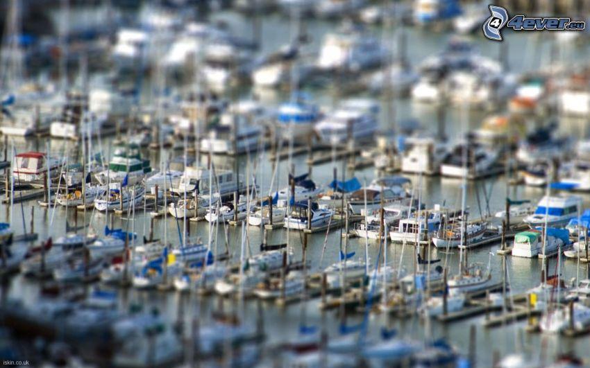 przystań dla jachtów, diorama