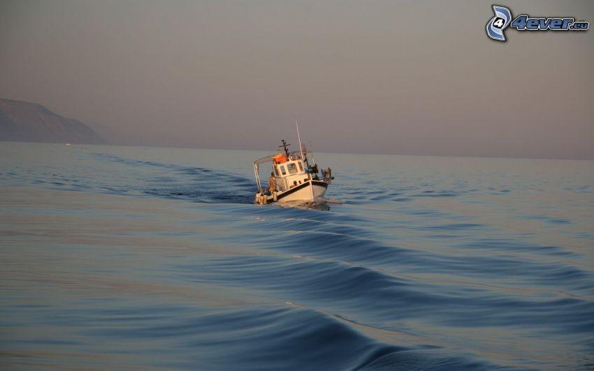 statek, morze