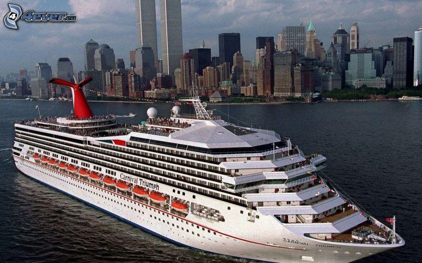 statek wycieczkowy, New York, USA, rzeka