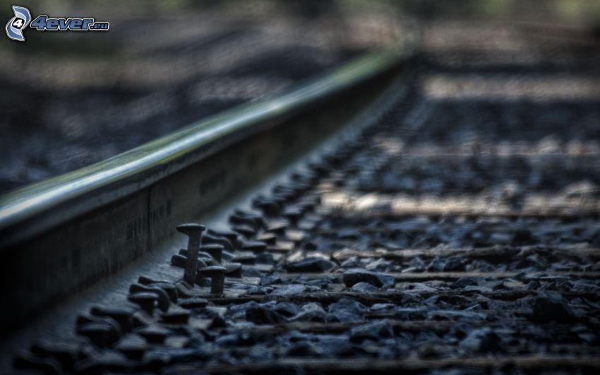 tory kolejowe, gwóźdź