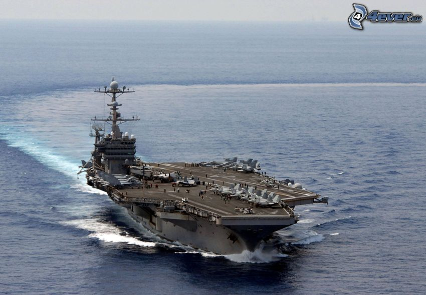 USS George Washington, lotniskowiec, morze otwarte