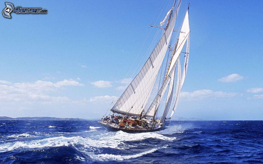 żaglowiec, morze