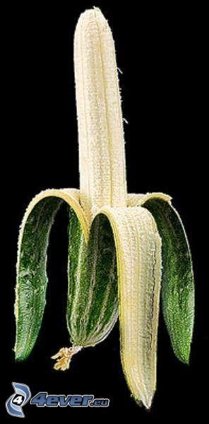 banan, ogórek