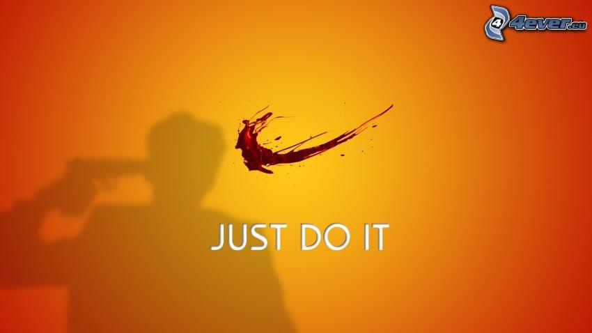 Just Do It, samobójstwo, krew, Nike, parodia