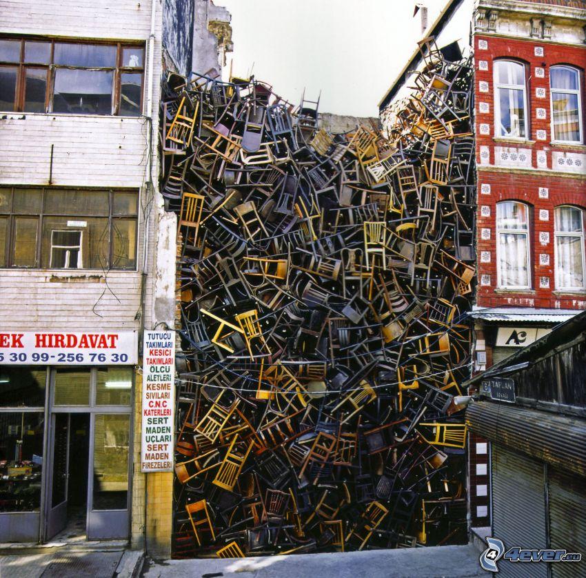 krzesła, ulica