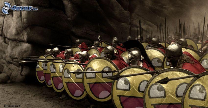 300, żołnierze, buźki, parodia