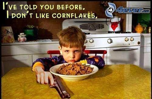 spojrzenie, pistolet, śniadanie