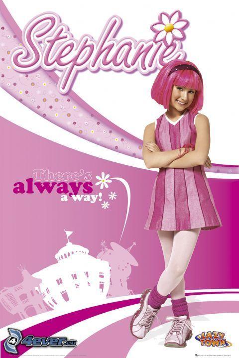 Stephanie, różowy, bajka