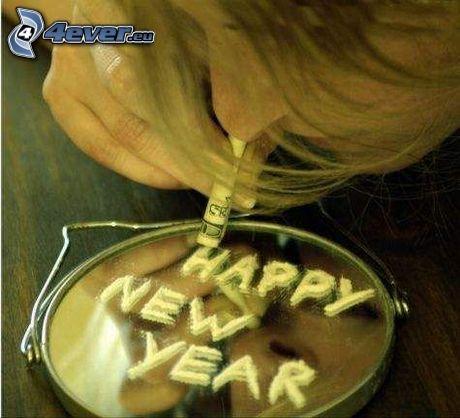 Szczęśliwego Nowego Roku, narkotyki, kokaina