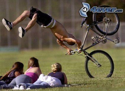 wypadek, bike, rower