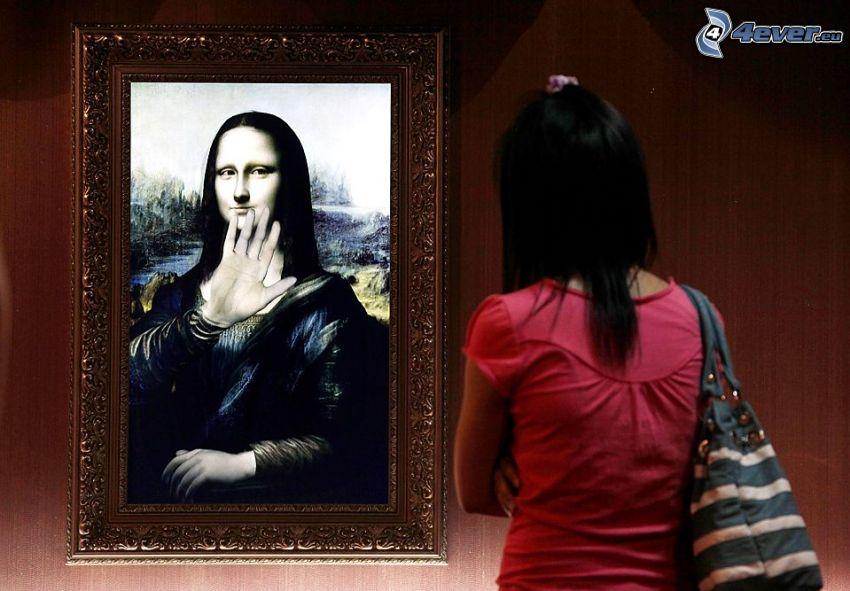 Mona Lisa, ręka, parodia