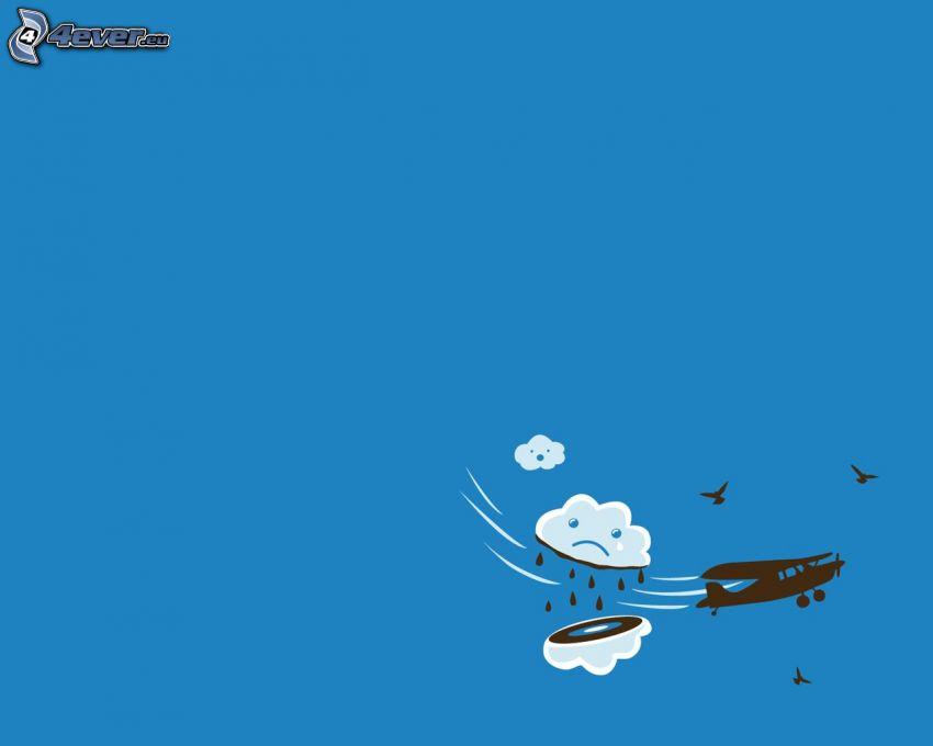 chmura, samolot