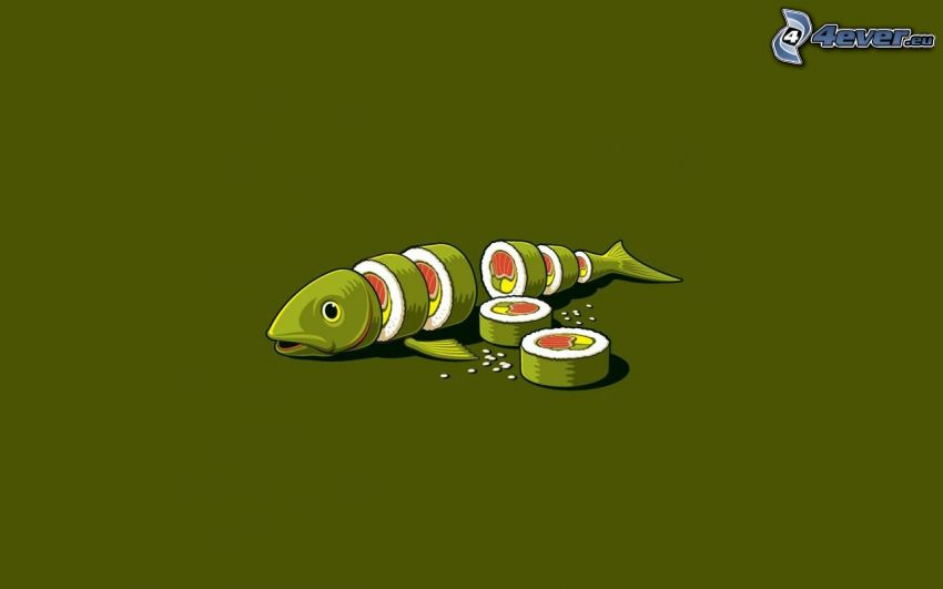 ryba, sushi