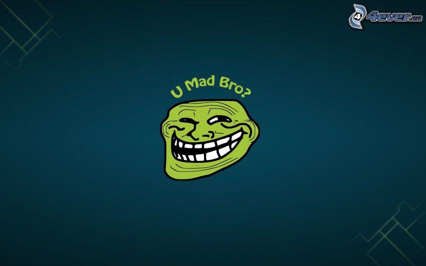 U Mad Bro?, troll face, meme