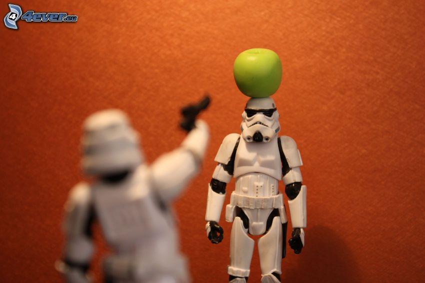 Stormtrooper, Star Wars, jabłko, parodia