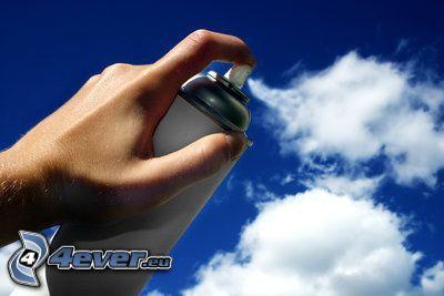 spray, chmury