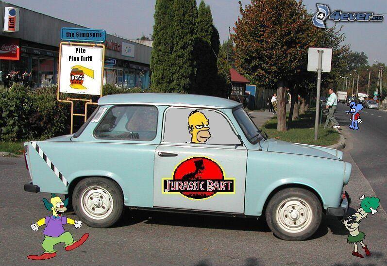 Trabant, Simpsonowcy, Homer Simpson, samochód