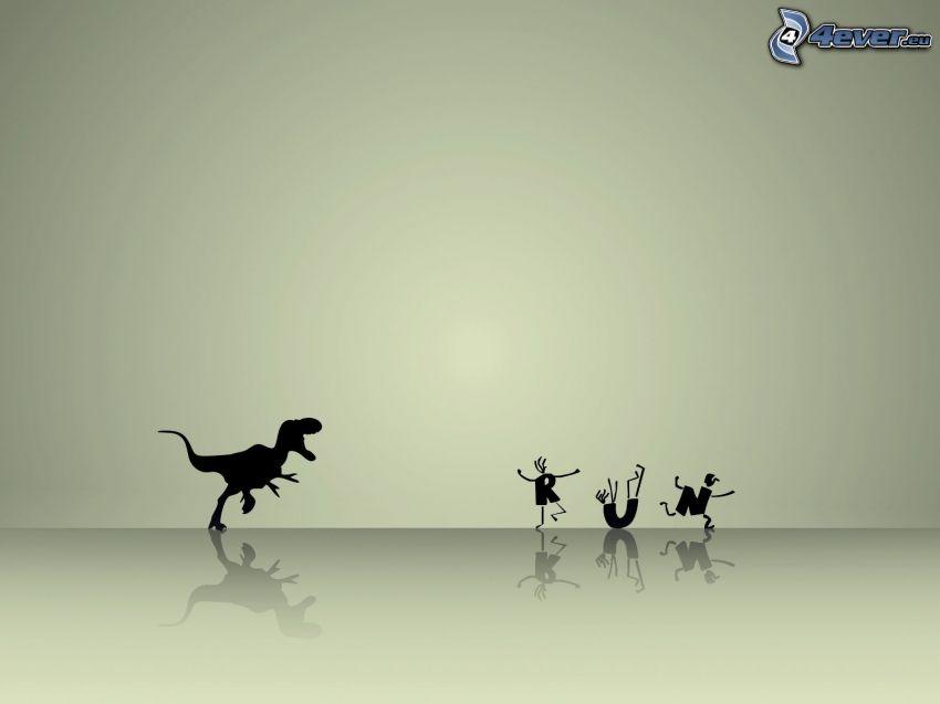 Tyrannosaurus, dinozaur, bieg
