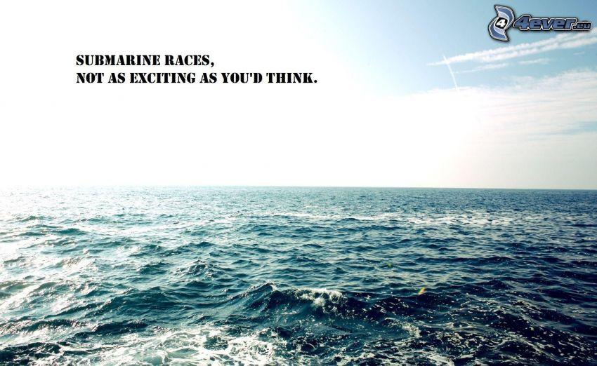 wyścigi, łódź podwodna, morze