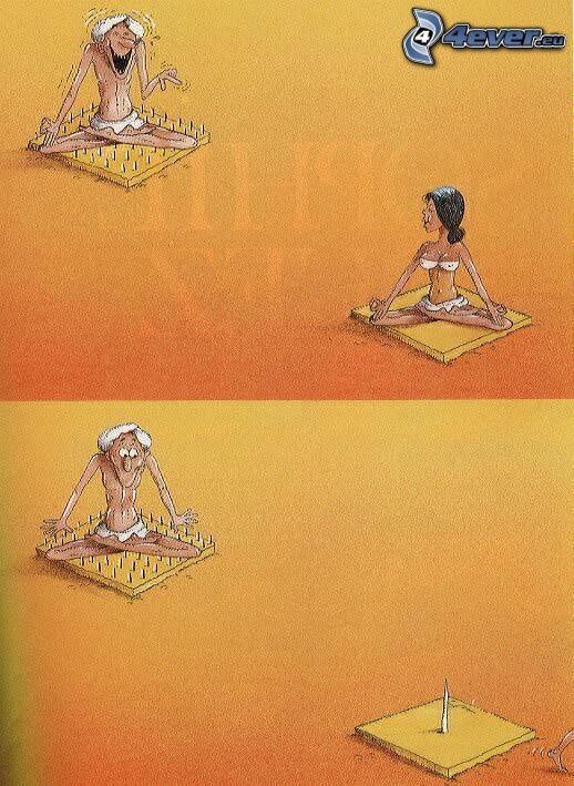 fakir, mężczyzna i kobieta